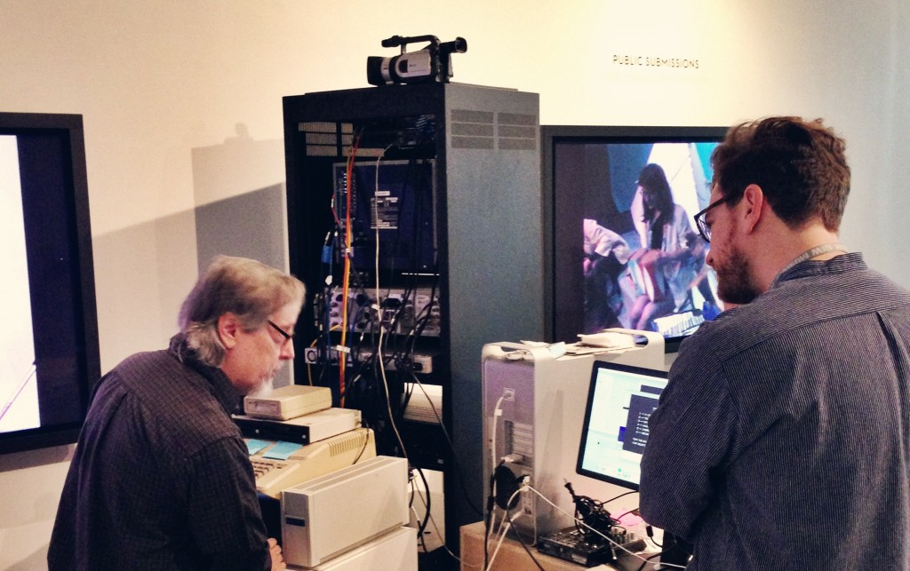 Phil Sanders demoing his work during live capture